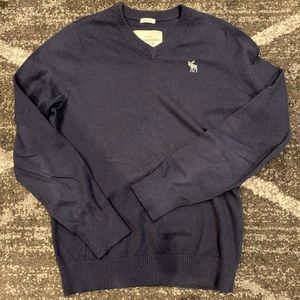 Men's Abercrombie & Fitch Muscle Fit Navy Sweater